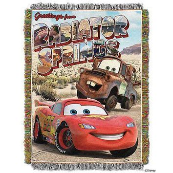 Disney Cars Welcome to Radiator Springs 48x60 Woven Tapestry Throw FREE US SHIP