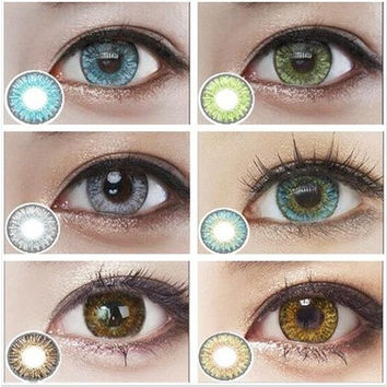 TurqoiseGreen eye contacts lenses