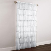 Brylanehome Gypsy Ruffled Voile Rod-Pocket Panel