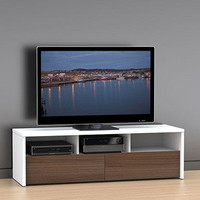 """Walmart: Liber-T White/Walnut TV Stand, for TVs up to 60"""""""