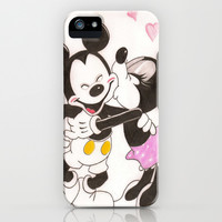 Mickey & Minnie iPhone & iPod Case by karl oconnor