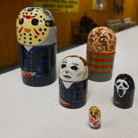 Horror nesting doll set