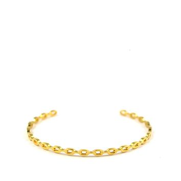 Chain Link Bangle Bracelet - Gold