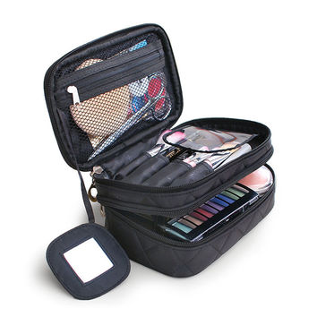 2016 Luxury Cosmetic Bag Big Professional Toiletry Bags Travel Makeup Case Beauty Necessaries Make up Storage Beautician Box