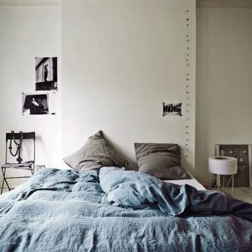 Linen duvet cover 220 x 240 cm - Blue grey — BODIE and FOU - Award-winning inspiring concept store