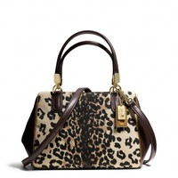 Coach :: New Madison Mini Satchel In Ocelot Print Fabric