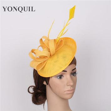 Headwear for Chemo party fascinator hat base women vintage wedding hat decoration bridal hair accessories beautiful cap retail