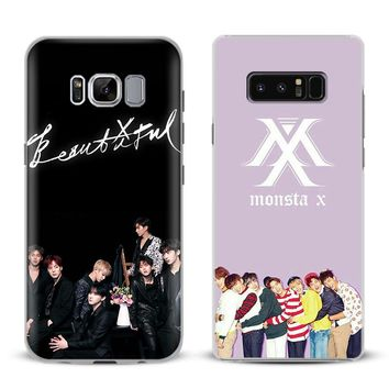 Monsta X KPOP Boy Group Phone Case Cover Shell For Samsung Galaxy S4 S5 S6 S7 Edge S8 S9 Plus Note 8 3 4 5 A5 A7 J5 2016 J7 2017