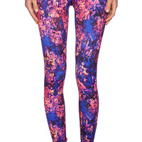Lorna Jane Bold Blooms Legging in Blue