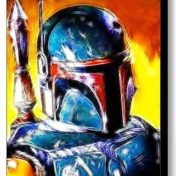 Framed Star Wars Magical Boba Fett 9X11 inch Limited Edition Art Print w/COA