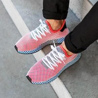 Adidas Deerupt Runner Trifolium Gridding Sneakers Shoes