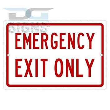 EMERGENCY EXIT ONLY aluminum sign