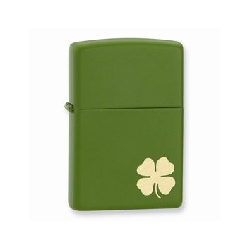 Zippo Shamrock Moss Matte Lighter - Engravable Personalized Gift Item