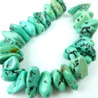 Kingman Natural Turquoise Nuggets 10mm x 6mm Set of 27