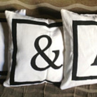 PersonalizedPillows, Gifts, Personalized Gifts, Monogram pillows, Wedding pillows, Bridesmaid Gifts, Pillow set