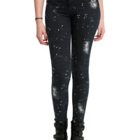 LOVEsick Crackle Bleach Splattered Super Skinny Jeans