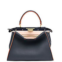 Fendi - Peekaboo Multicolor Leather Satchel - Saks Fifth Avenue Mobile