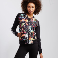 LLD Abstract Butterfly Print Bomber Jacket