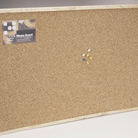 Cork Memo Board with Push Pins and Wood Frame - 16 x 24 inches