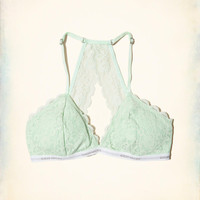 Girls Lace Racerback Triangle Bralette With Removable Pads | Girls New Arrivals | HollisterCo.com