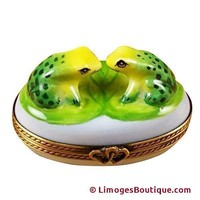 LOVE FROGS LIMOGES BOX