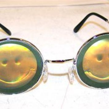 SMILE FACE HOLOGRAM SUNGLASSES HAPPY novelty glasses eyewear 3D NEW SHADES