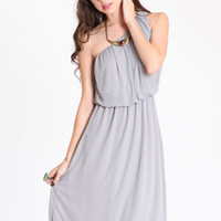 Smoke Screen One Shoulder Dress - $33.00 : ThreadSence.com, Your Spot For Indie Clothing  Indie Urban Culture