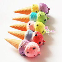 Tropical Fruit Ice Cream Squishy Charm