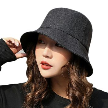 Summer Sun Hats for Women Fashion Design Foldable Brimmed Fisherman Hat Women Men Casual Bucket Hat for Fishing Beach Cotton Cap