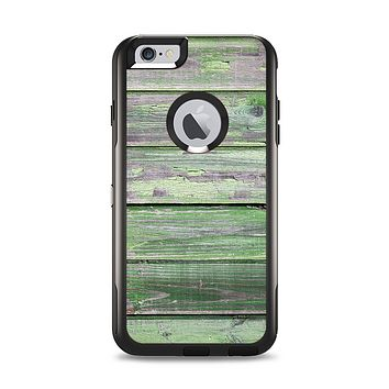 The Wooden Planks with Chipped Green Paint Apple iPhone 6 Plus Otterbox Commuter Case Skin Set