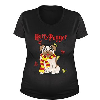 Harry Pugger Ugly Christmas Holiday  Maternity Pregnancy Scoop Neck T-Shirt