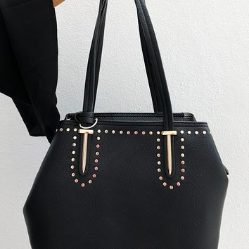 Work, Work, Work Purse: Black/Gold