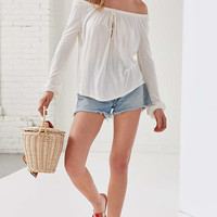Ecote Cooper Off-The-Shoulder Top   Urban Outfitters