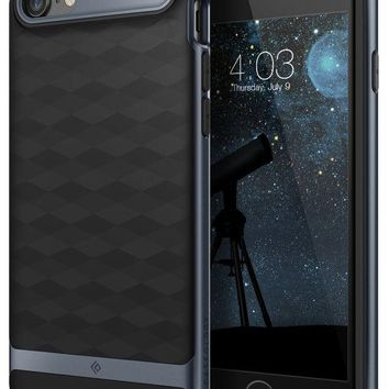 VONEXO9 Caseology Parallax Series iPhone 7 / 8 Cover Case with Design Slim Protective for Apple iPhone 7 (2016) / iPhone 8 (2017) - Black / Deep Blue