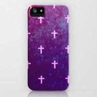 Cross Love iPhone & iPod Case by Pink Berry Pattern
