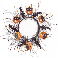 Dia de Los Muertos Collection Jack-O-Lantern Wreath