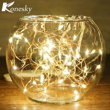 CREYN3C 5m/16.4ft 50-LED Copper Wire String Light for Glass Craft Bottle Fairy Valentines Wedding Lamp Party Xmas   wedding decoration
