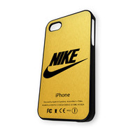 Nike logo gold texture iPhone 4/4S Case