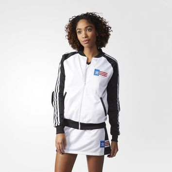 adidas Planetary Power Track Jacket - White | adidas US
