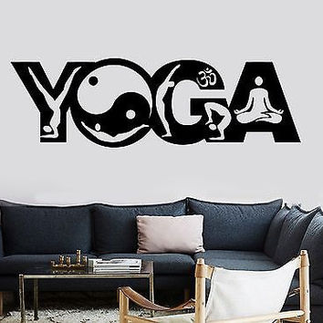 Wall Sticker Buddha Yoga Pose Positions Zen Meditation Om Vinyl Decal (z2913)