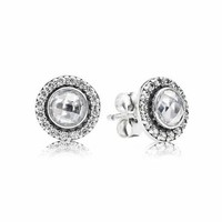 PANDORA Brilliant Legacy Clear Faceted CZ Stud Earrings