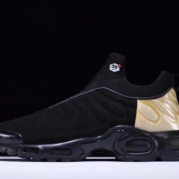 dc6417aac6 nike air max plus slip sp tn retro running shoes black gold