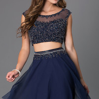 Short Two Piece Cap Sleeve Dress by Shail K.