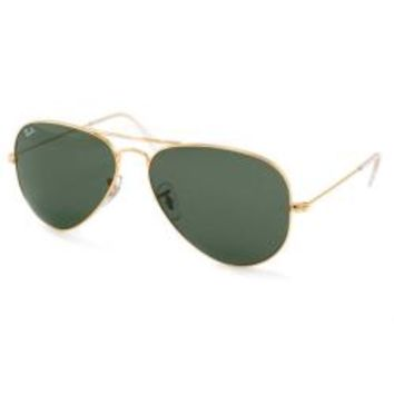 Ray Ban Aviator RB3025 Unisex Gold Frame Green Classic Lens Sunglasses - Free Shipping Today - Overstock.com - 17117759 - Mobile