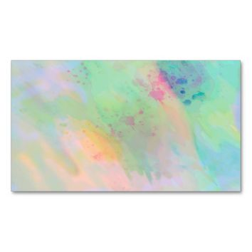 business card template watercolor art abstract