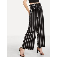 Sway To The Side Pants - Black & White