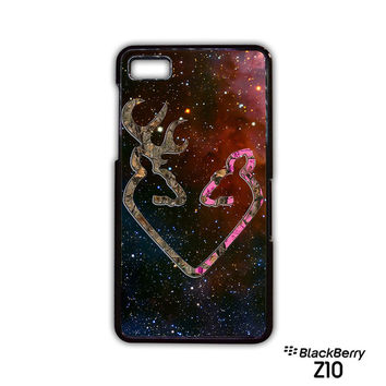 Browning Style Heart Buck Doe Deer Sticker Decal Duck Hunting for Blackberry Z10/Q10 phonecases