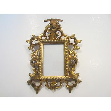 Rococo Style Vintage Gesso Gold Photo Frame