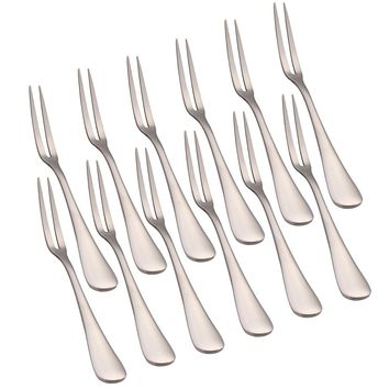 Set of 12 Cocktail Fruit Dessert Stainless Steel Forks
