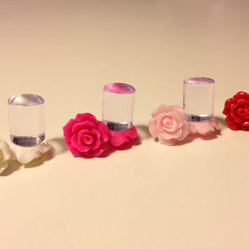 00g 0g 2g 4g 6g 8g Bridal Party 4 PAIRS Pick your color - 10mm Rose Plugs - Perfect for everyday Wedding Bridesmaid Special Occasion